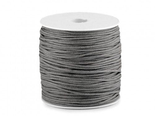 sznurek bawełniany woskowany 2mm szary