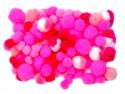 pomponiki mix różowy 100 sztuk