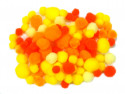 pomponiki mix żółty 100 sztuk