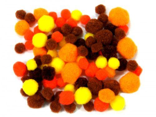 pomponiki mix jesienny 100 sztuk