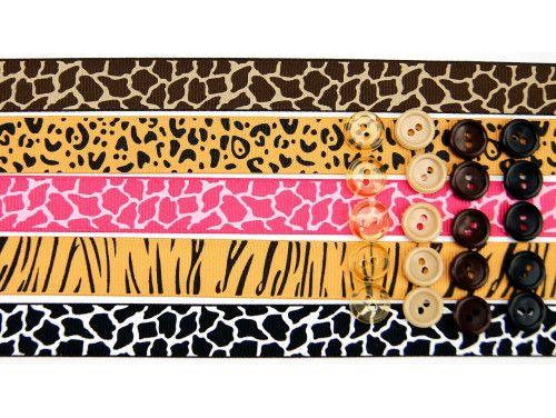 wstążki zestaw safari