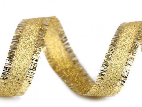 wstążka brokatowa złota nawój 3 metry