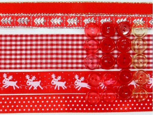 wstążki zestaw Czerwone Święta