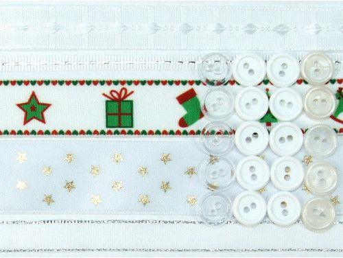 wstążki zestaw Białe Święta