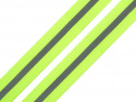 taśma rypsowa 30 mm z odblaskiem neonowa