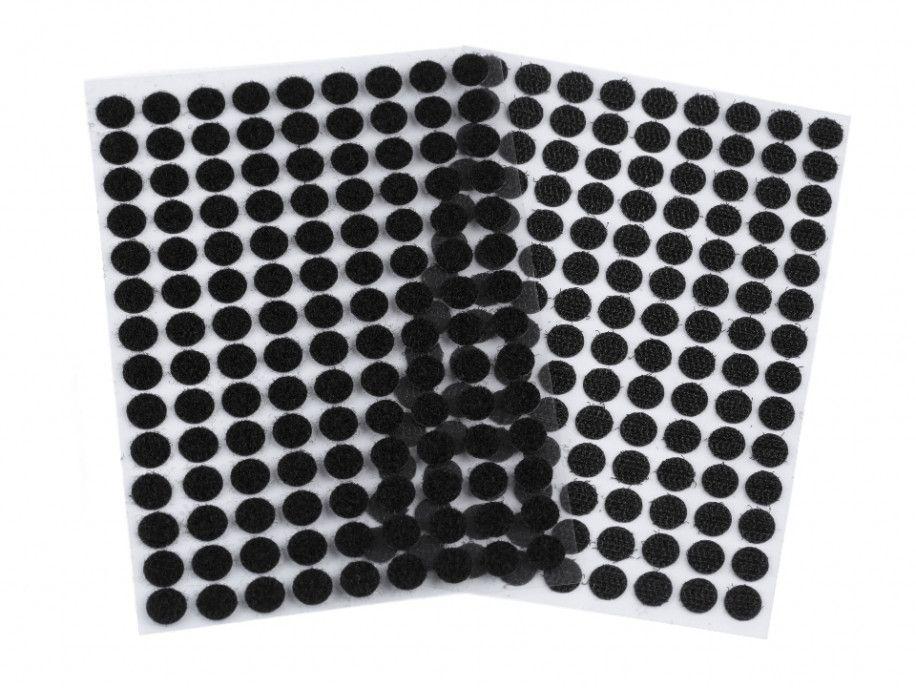rzep z klejem kółeczka 10 mm czarne