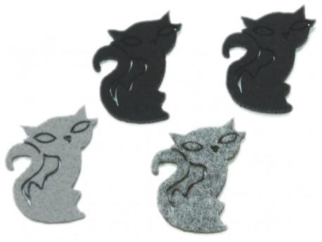 koty z filcu