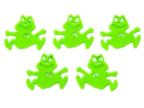 żabki z filcu