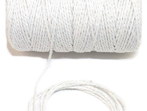 sznurek bawełniany 1,5 mm biały -10m.