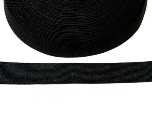 guma tkana czarna 25mm
