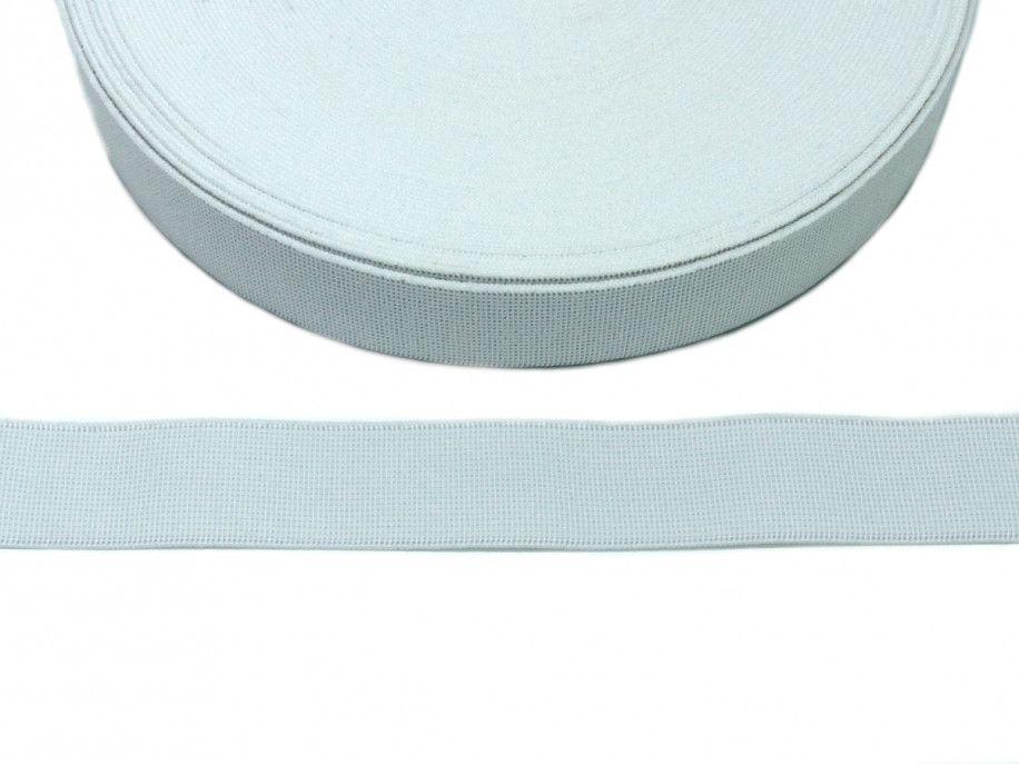 guma tkana biała 25mm