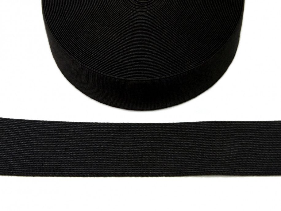 guma tkana czarna 40mm