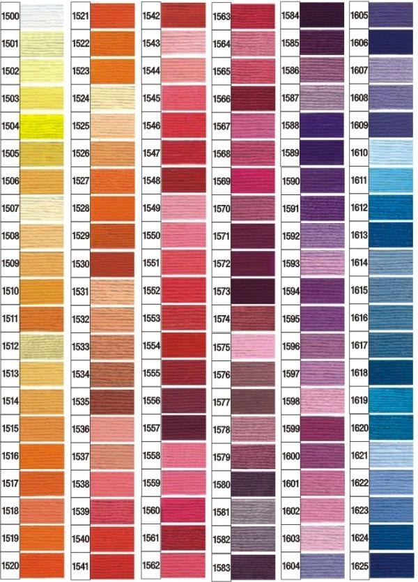 Karta kolorów mulina Ariadna 1