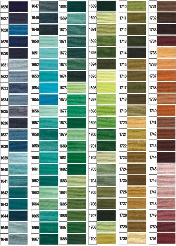Karta kolorów mulina Ariadna 2
