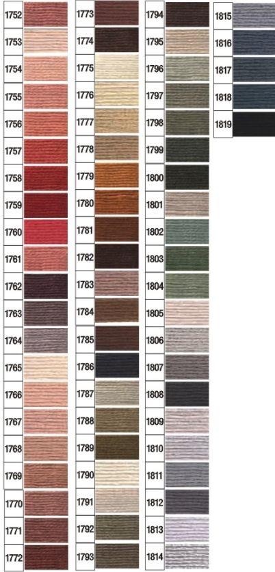 Karta kolorów mulina Ariadna 3
