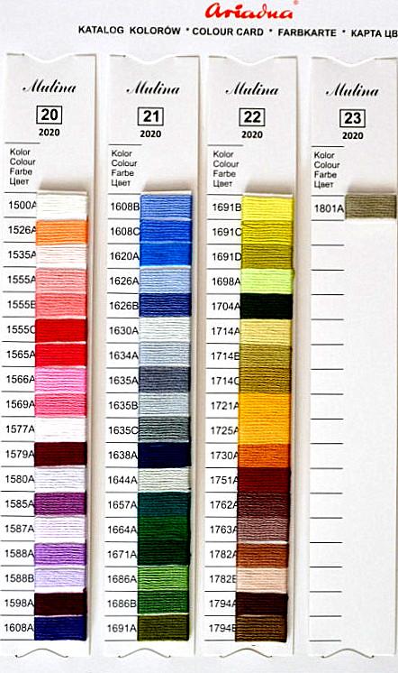 Karta kolorów Mulina Ariadna